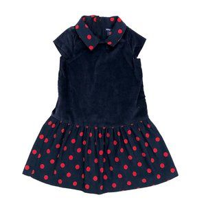 GAP Baby Gap Girls Toddler Navy Blue Red Dress 4T